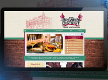 Website developed for the Brewery District Trade Association in Columbus, OH