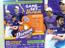 Flyer promoting ticket sales and the upcoming for the California Dream professional tennis team