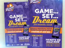 A magazine ad for the California Dream professional tennis team