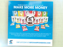 A digital ad eliciting new independent owners for Champion's Edge