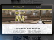 Website design for Donnell Law, a legal firm in Central Ohio