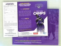 A trifold brochure developed for the Dallas Sidekicks to promote their summer camps
