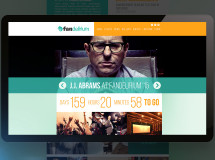 A website developed for FANdelirium, an event and convention production company