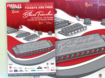 A promotional poster developed for the FreeForAll Concert Series promoting its inaugural event