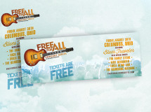 Facebook and Twitter branding graphics developed for the FreeForAll Concert Series