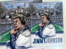 A concept poster designed for the SMU Athletic Forum for its luncheon event featuring former Dallas Cowboys head coach Jimmy Johnson