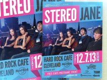 A promotional poster promoting an appearance by the rock group Stereo Jane