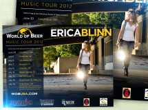 A promotional poster promoting the tour dates of the World of Beer Music Tour 2012