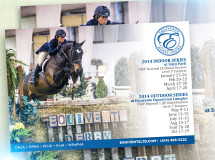 A refrigerator magnet created for Equivents Horse Shows promoting their upcoming events