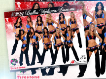 An autograph card developed for the Dallas Vigilantes Dancers, the dance team of the Dallas Vigilantes Arena Football team