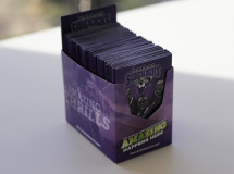 Pocket schedules and a pocket schedule holder designed by The Remedy for the Dallas Sidekicks