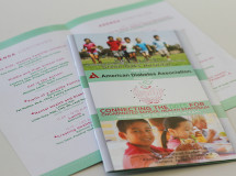 An event program designed by The Remedy for the North Texas chapter of the American Diabetes Association