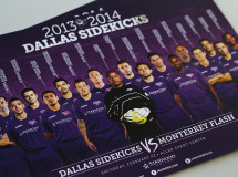 A promotional team poster designed for the Dallas Sidekicks