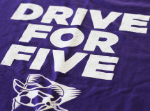 A t-shirt design for the Dallas Sidekicks promoting their drive for a fifth indoor soccer championship