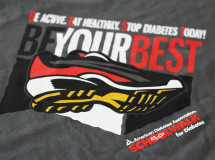 A t-shirt design created for the American Diabetes Association for its School Walk for Diabetes event