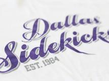 A classic women's shirt design for the Dallas Sidekicks