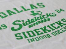 A retro t-shirt design created for the Dallas Sidekicks