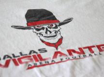 T-shirt design for the Dallas Vigilantes Arena Football team