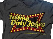 A t-shirt design for Garrett Morris' Downtown Blues & Comedy Club