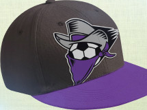 A youth cap designed for the Dallas Sidekicks with an oversized logo design