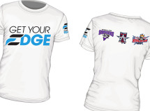Promotional t-shirt design for Champion's Edge to use as giveaways during events associated with professional sports teams the company sponsored