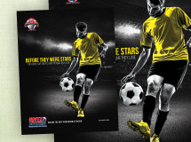 A print ad for North Texas Soccer for placement in the Dallas Cup event program