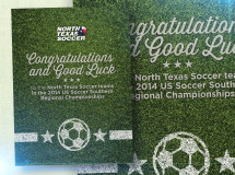 Print ad produced for North Texas Soccer
