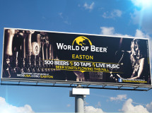 A billboard designed for the World of Beer franchise at Easton Town Center in Columbus, OH