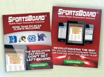 Digital web ads created for West Shore Technologies promoting its SportsBoard mobile player assessment technology
