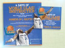 Print and digital web ads created for James Singleton Basketball Camps
