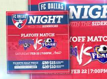 Digital web ads created for the Dallas Sidekicks professional indoor soccer team