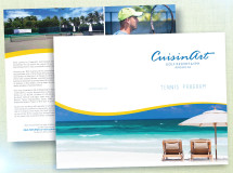 A brochure developed for the CuisinArt Golf Resort & Spa in Anguilla promoting its tennis program