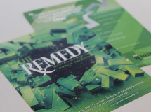 Marketing brochure developed to promote The Remedy