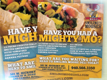 A print ad developed for Smiling Moose Deli