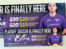 A print ad developed for the Dallas Sidekicks professional indoor soccer team
