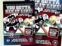 A print ad developed for the Dallas Vigilantes Arena Football team