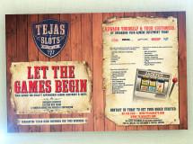 A print ad for Tejas Slots