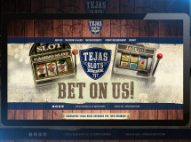 Website design for Tejas Slots, a company that sells refurbished slot machines and casino games