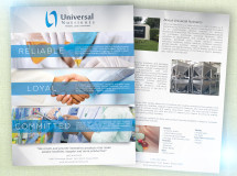 Marketing flyer developed for Universal Nutrients to use at trade shows
