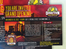 Social media graphics developed for the grand opening of Garrett Morris' Downtown Blues & Comedy Club