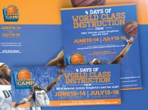 Social media graphics developed for the James Singleton Basketball Camp