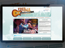 A website developed for the FreeForAll Concert Series, a series of free concerts based in Columbus, OH