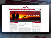 A website developed for Red Mountain Resources, an oil and gas exploration and production company based in Dallas, TX
