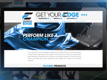 A website designed for Champion's Edge, a sports nutrition company