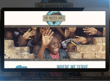 Website designed for The Master Cares, a non-profit organization in Dallas serving Uganda and other areas of the African continent