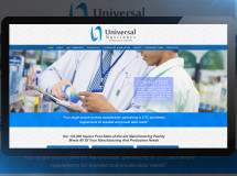 Website developed for Universal Nutrients, a nutritional supplement and OTC drug manufacturing facility